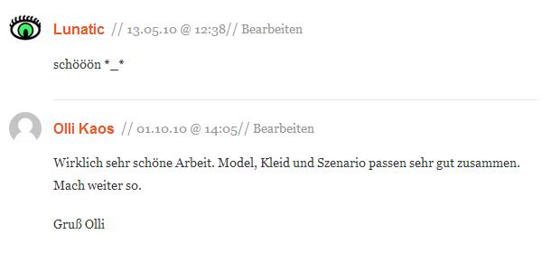 Kommentare Photo-Shoot Maria R. 10-2009 auf pixmake.de