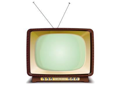 Bild eines alten Fernsehers