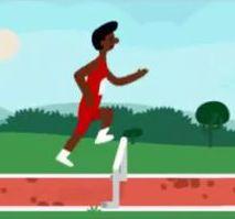Bild: Google Doodle Hurdles 2012