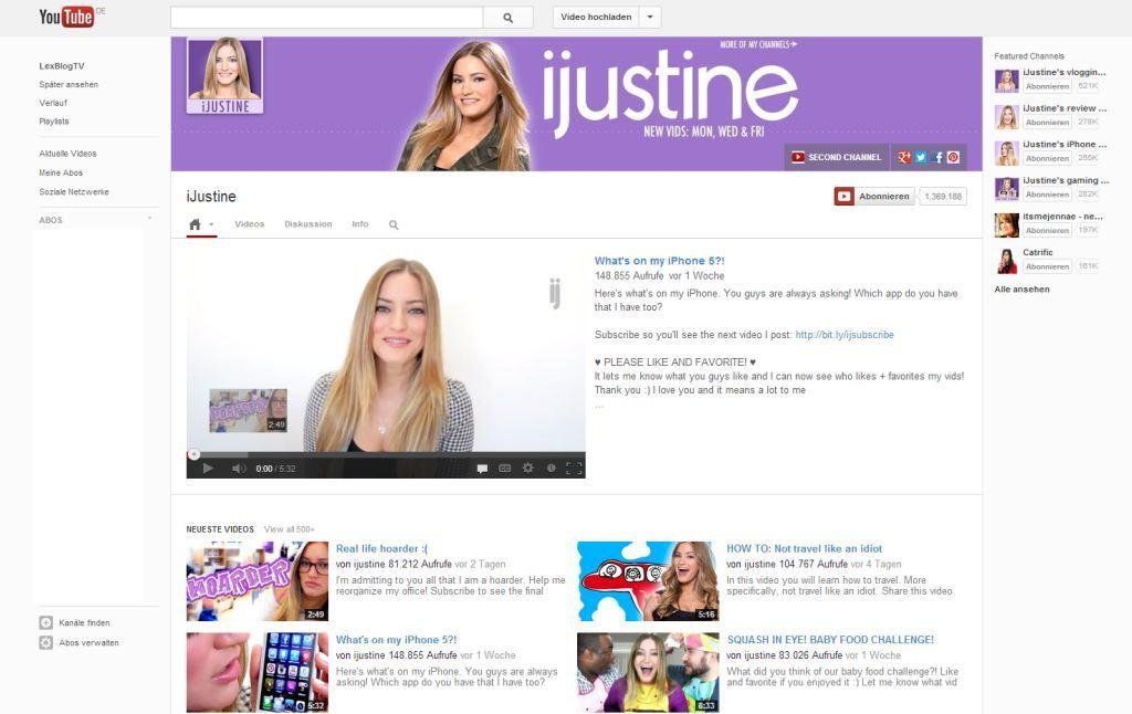 neue YouTube Kanal-.Design