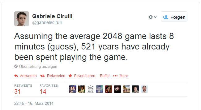 2048 wasting time Gabriele Cirulli
