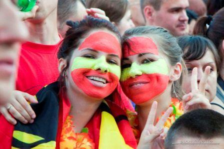 Breslau - Fans der spanischen Nationalmannschaft