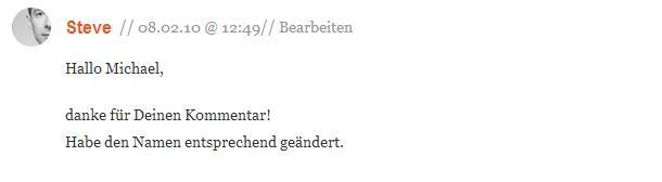 Kommentare zu Locations finden aber wie auf pixmake.de