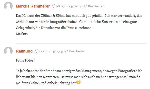 Kommentare zu Konzert Zöllner & Söhne / Jena auf pixmake.de