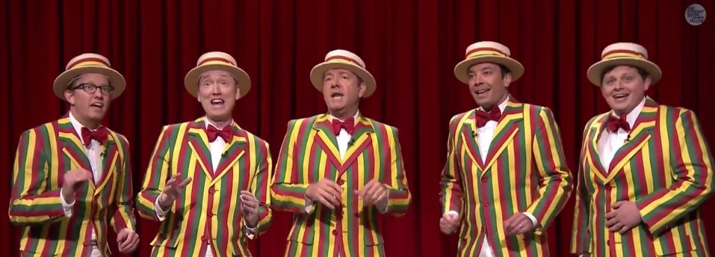 Jimmy Fallon, Kevin Spacey and The Ragtime Gals