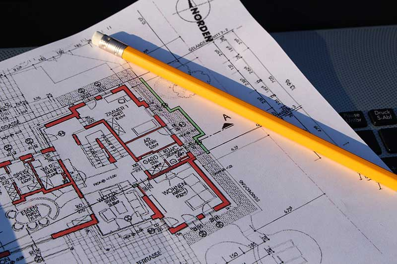 Hausbau - Grundriss