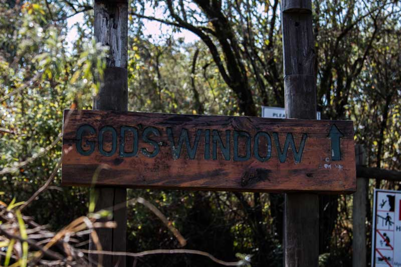 sign God's Window - South Africa vacation