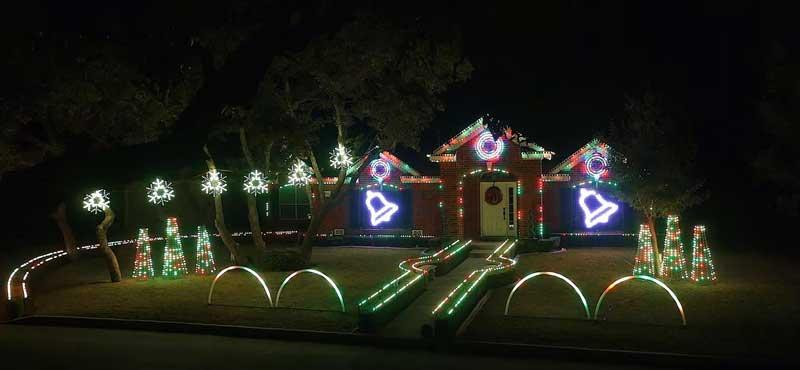 Johnson Family dubstep Christmas light show 2015