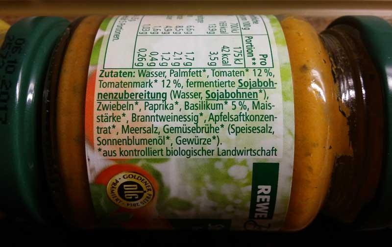 Tomate-Basilikum Aufstrich Zutaten